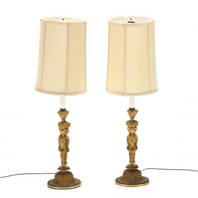 pair-of-dore-bronze-figural-candlestick-table-lamps