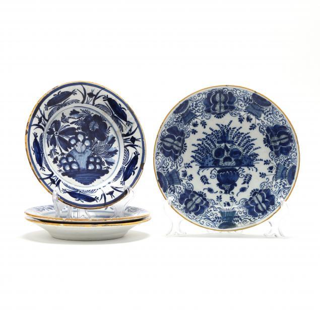 four-dutch-delft-blue-and-white-plates