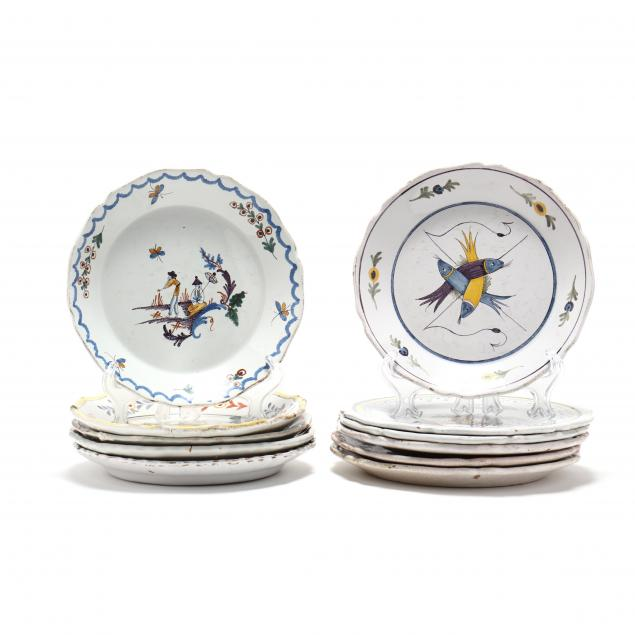 a-group-of-eleven-antique-faience-plates-att-moustiers-or-nevers