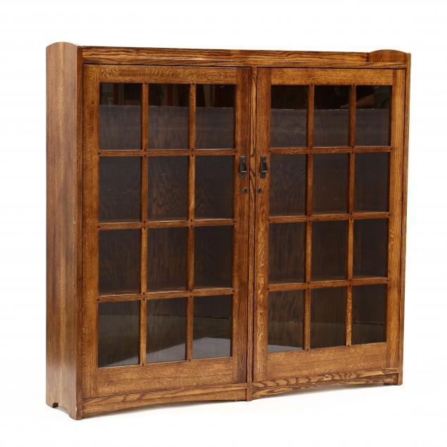 contemporary-mission-oak-bookcase