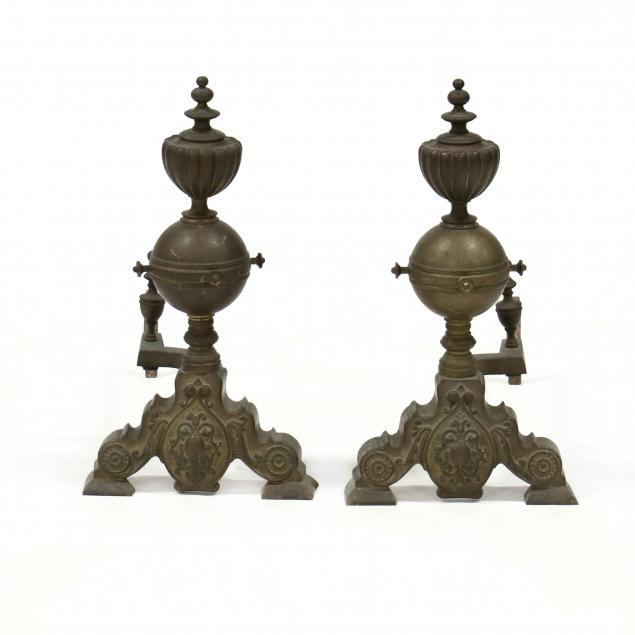 pair-of-continental-brass-andirons