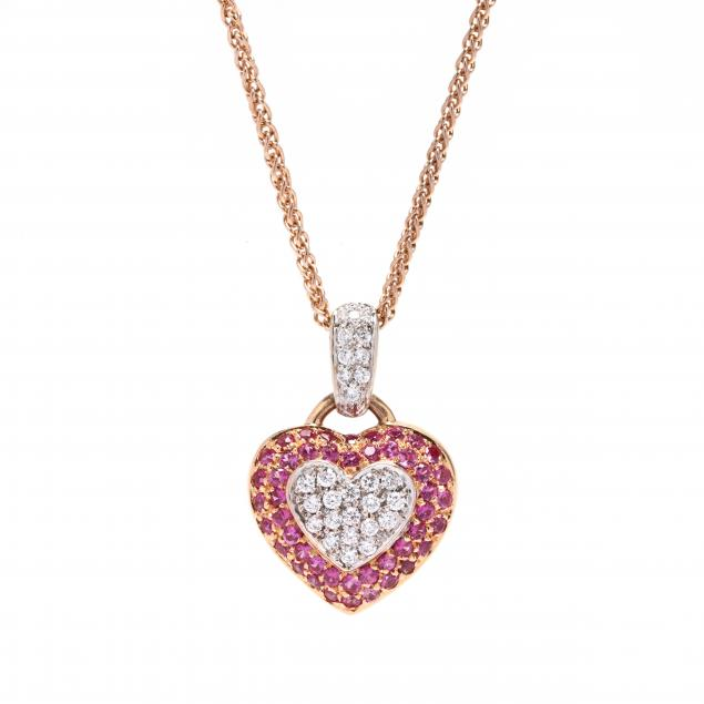 bi-color-gold-pink-sapphire-and-diamond-pendant-necklace
