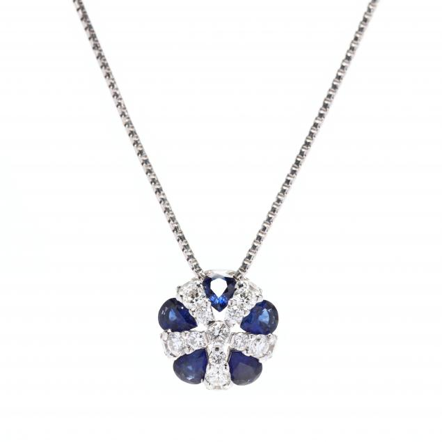 white-gold-sapphire-and-diamond-necklace