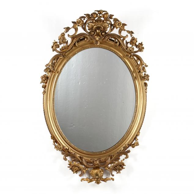 antique-rococo-revival-oval-mirror