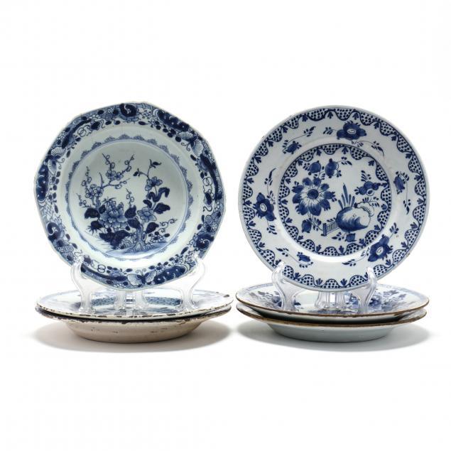 six-antique-delft-blue-and-white-plates
