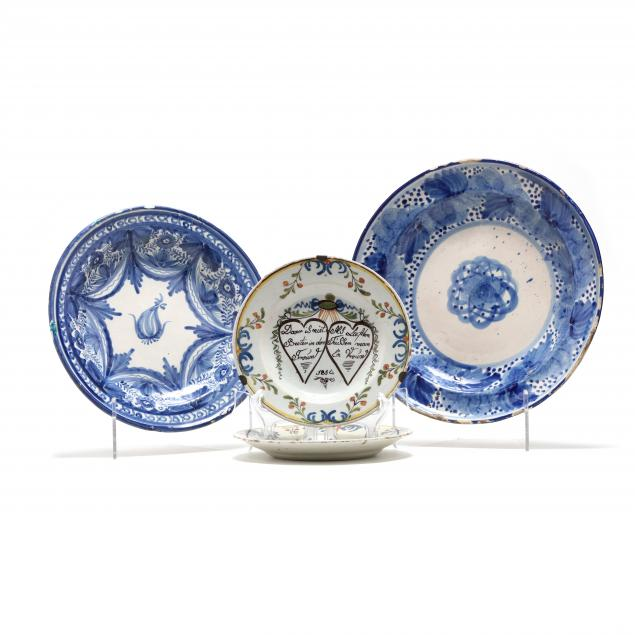 four-19th-century-delft-plates