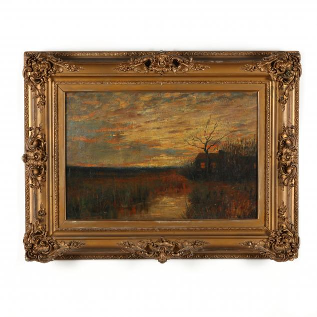 bruce-crane-american-1857-1937-marsh-landscape-at-sunset