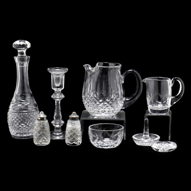 waterford-a-grouping-of-nine-cut-crystal-pieces
