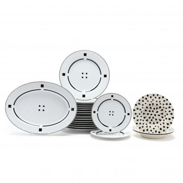 grouping-of-swid-powell-i-tuxedo-i-and-i-dots-i-porcelain-dinnerware