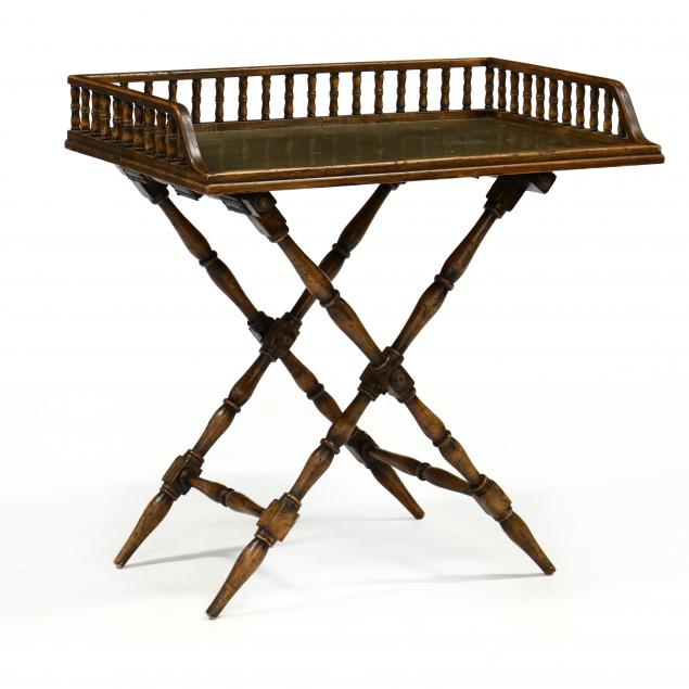 vintage-brass-and-wood-serving-tray-on-stand