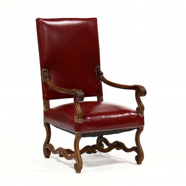 spanish-style-carved-walnut-armchair