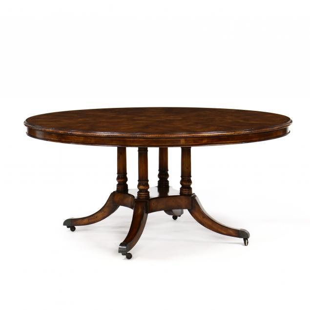 georgian-style-mahogany-circular-pedestal-dining-table