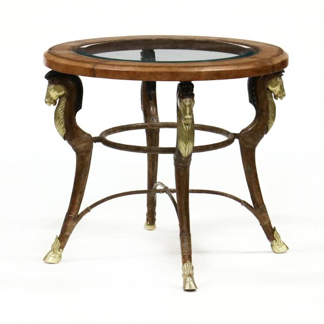 leather-wrapped-metal-and-glass-occasional-table