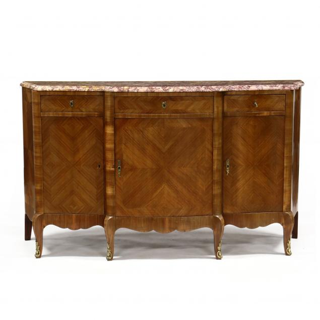 french-provincial-style-marble-top-buffet