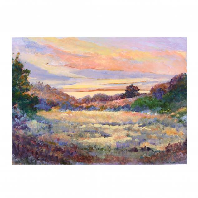 anne-haynes-jenkins-nc-impressionist-style-shoreline-at-sunset