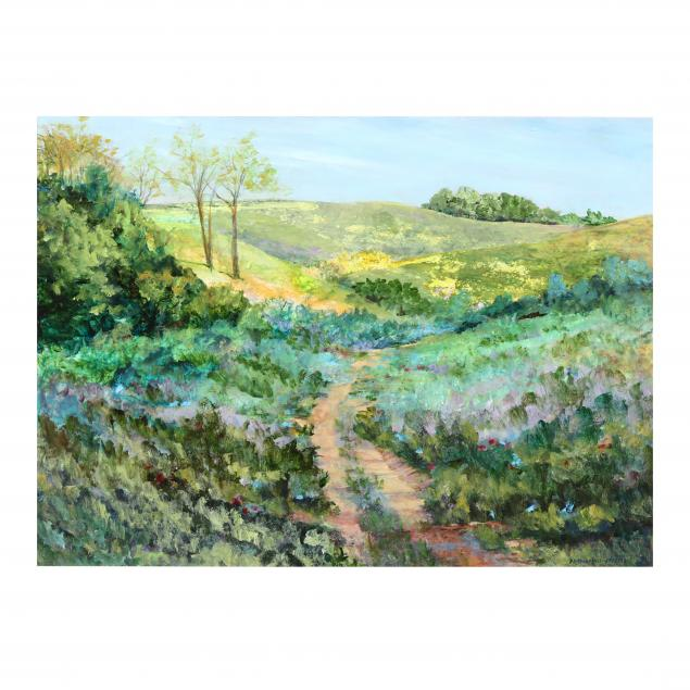 anne-haynes-jenkins-nc-impressionist-style-footpath-view-of-a-meadow