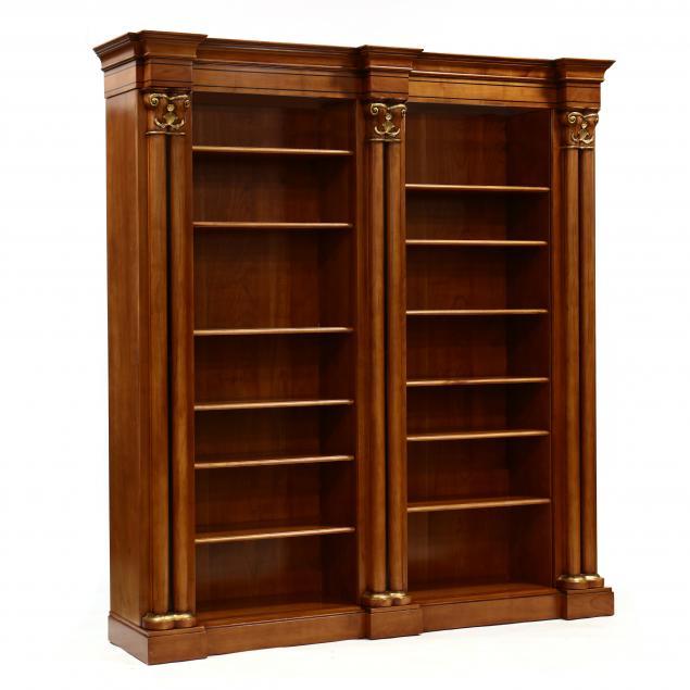 contemporary-italian-inlaid-cherry-bookcase