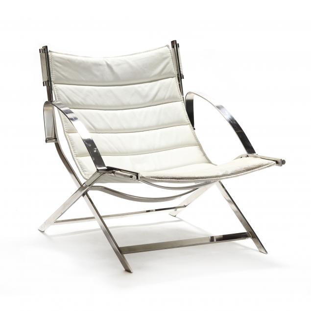 vintage-polished-steel-campaign-style-chair