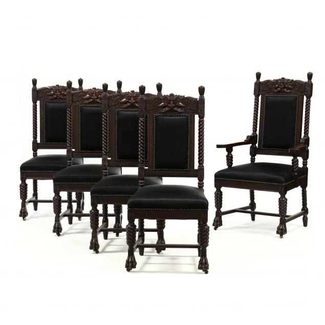 set-of-five-antique-carved-mahogany-dining-chairs