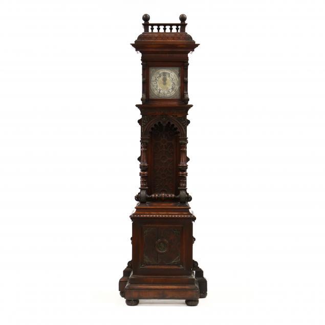 renaissance-revival-carved-walnut-tall-case-clock