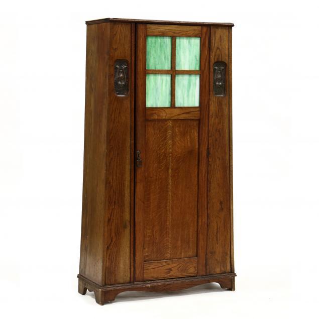 english-art-nouveau-oak-diminutive-wardrobe