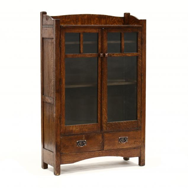 mission-oak-bookcase
