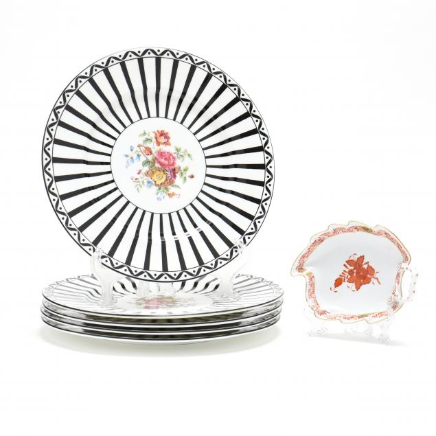 coalport-and-herend-porcelain-grouping