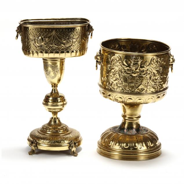 two-antique-repousse-brass-jardinieres