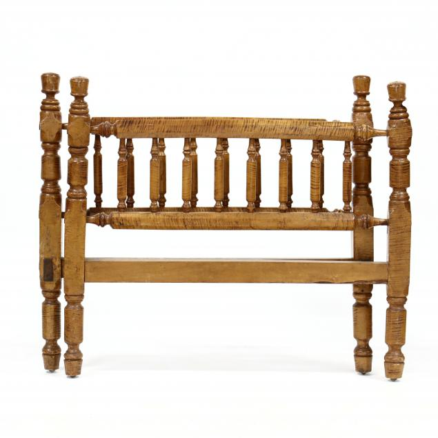 antique-tiger-maple-3-4-size-bed