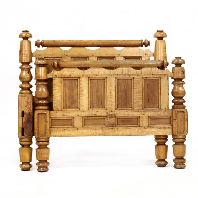 antique-tiger-maple-twin-size-bed