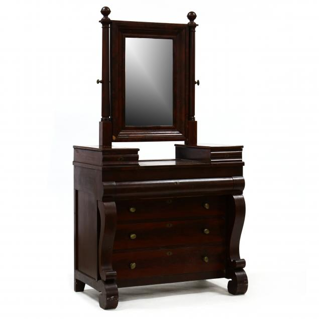 american-classical-mahogany-chest-with-mirror