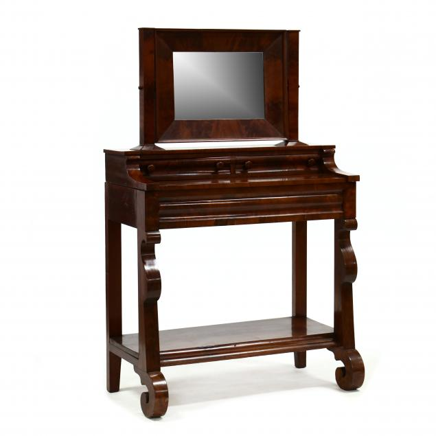 american-classical-mahogany-dressing-table-with-mirror