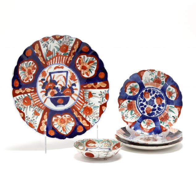 a-group-of-japanese-imari-porcelain