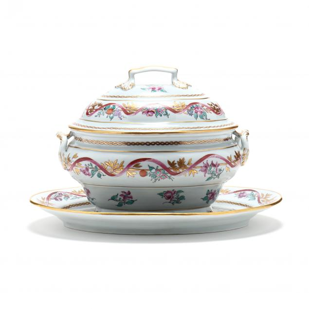 hand-painted-limoges-lidded-tureen-and-platter-made-for-tiffany