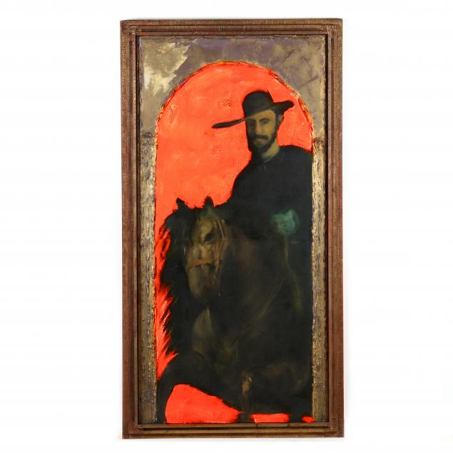 stephen-white-nc-large-painting-of-a-man-on-a-horse