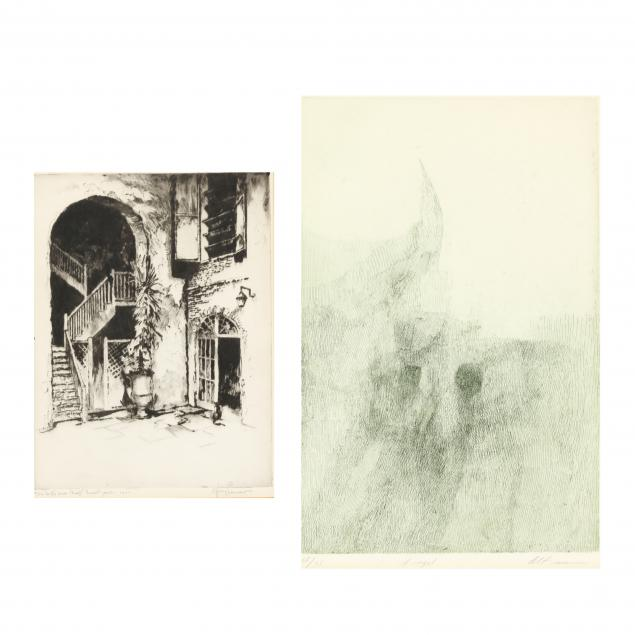 two-etchings-by-american-artists-gerry-peirce-and-harold-altman