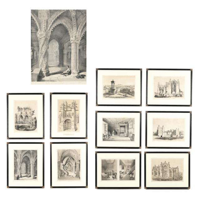 collection-of-ten-antique-lithographs-from-swarbreck-s-i-sketches-in-scotland-i