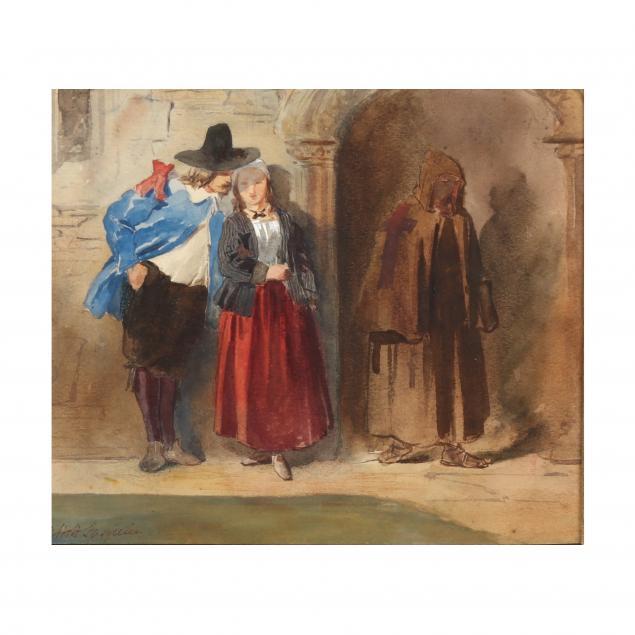 james-abbott-pasquier-british-fl-1851-1879-young-lovers-with-monk