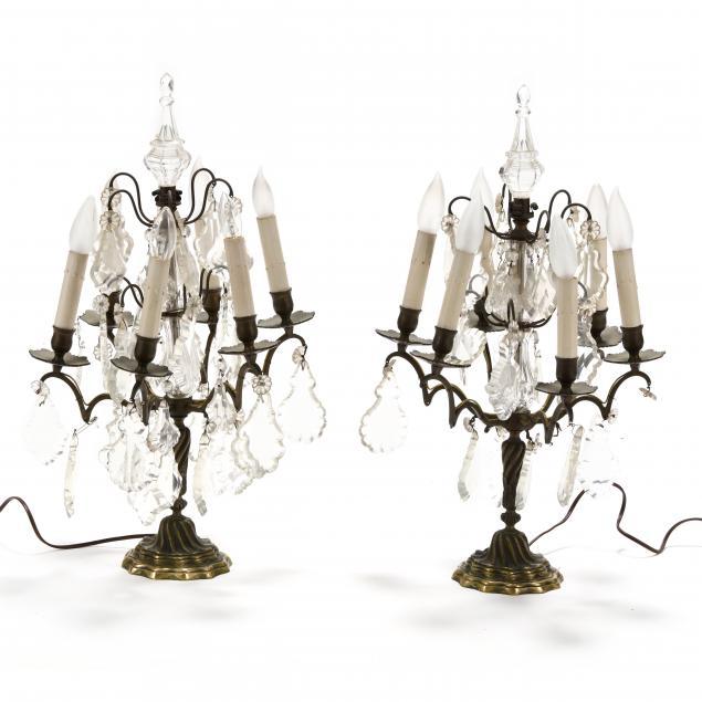 pair-of-antique-drop-prism-table-lamps