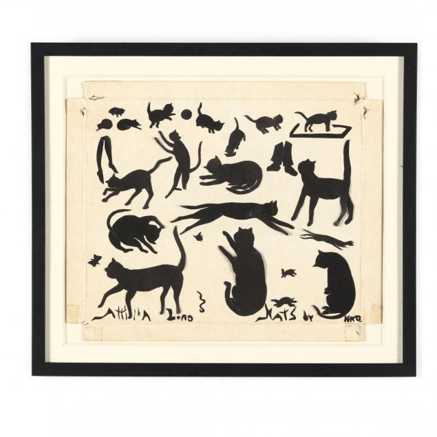 a-vintage-collection-of-cat-silhouettes-by-katherine-adelaide-pfohl