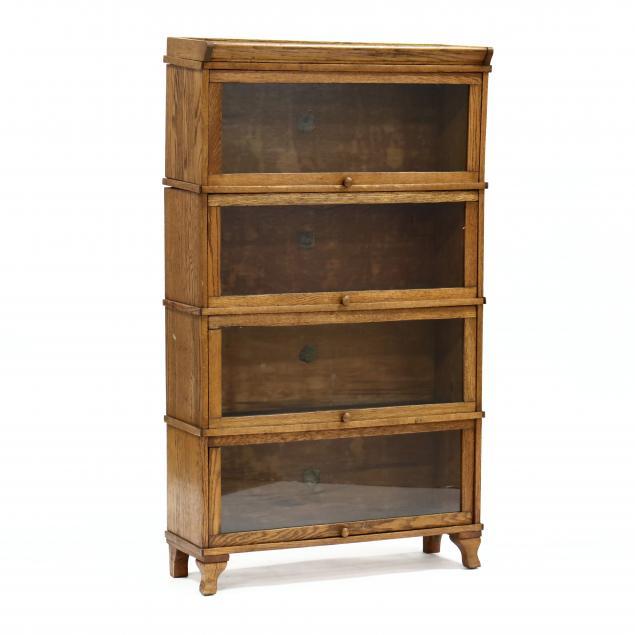 vintage-oak-stacking-barrister-bookcase