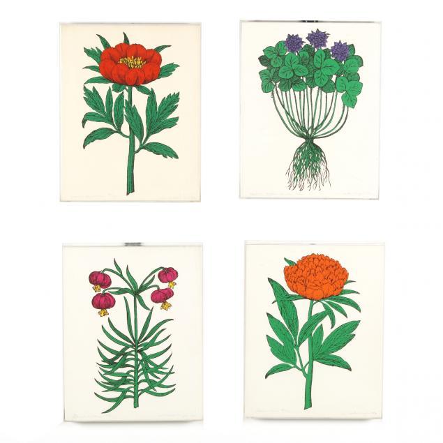 micaela-meyers-american-20th-century-four-floral-silkscreen-prints