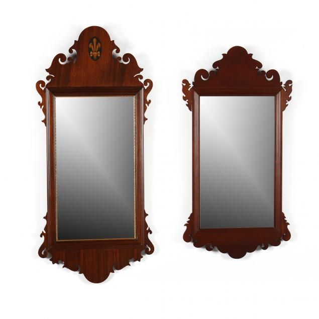 two-chippendale-style-mahogany-mirrors