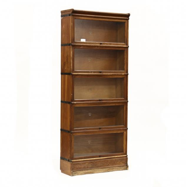 macey-tall-oak-stacking-barrister-bookcase