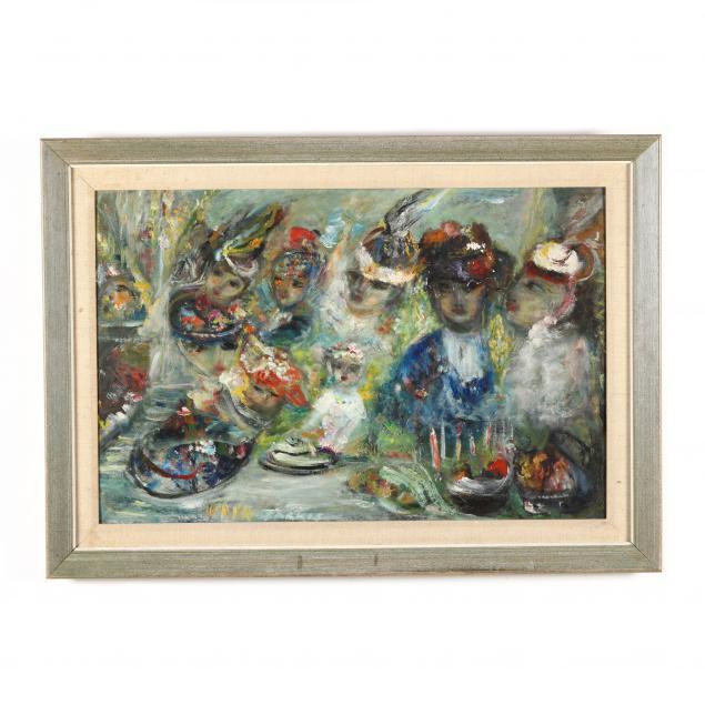 vava-khachadourian-armenian-american-1895-1984-chagall-school-genre-scene