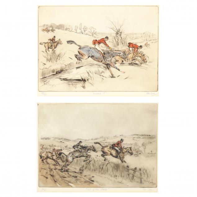tom-carr-british-1909-1999-two-hunt-scenes
