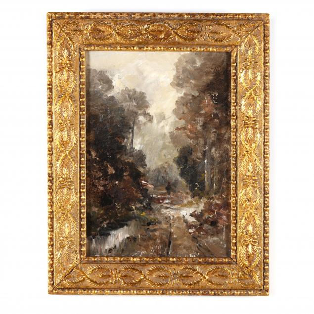 an-antique-impressionist-landscape-painting-with-figure