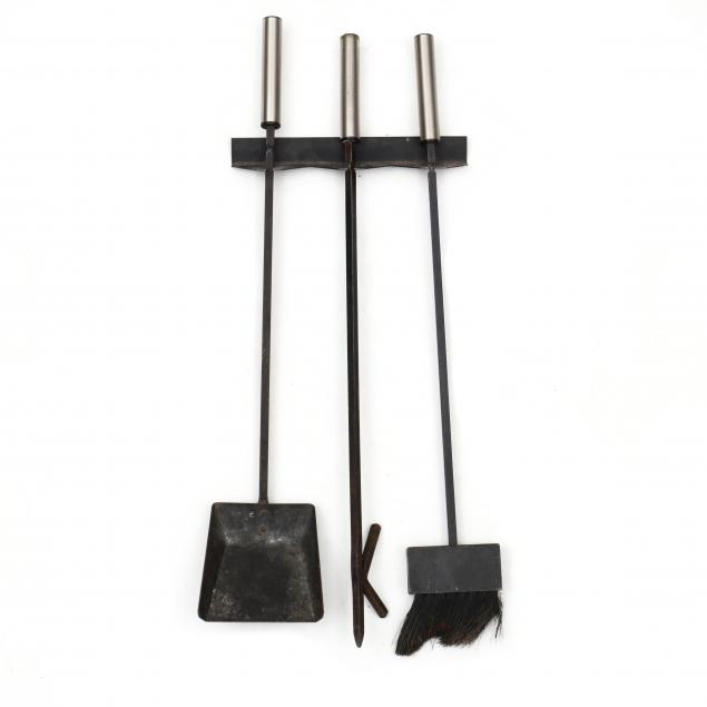 mid-century-wall-mount-fireplace-tools