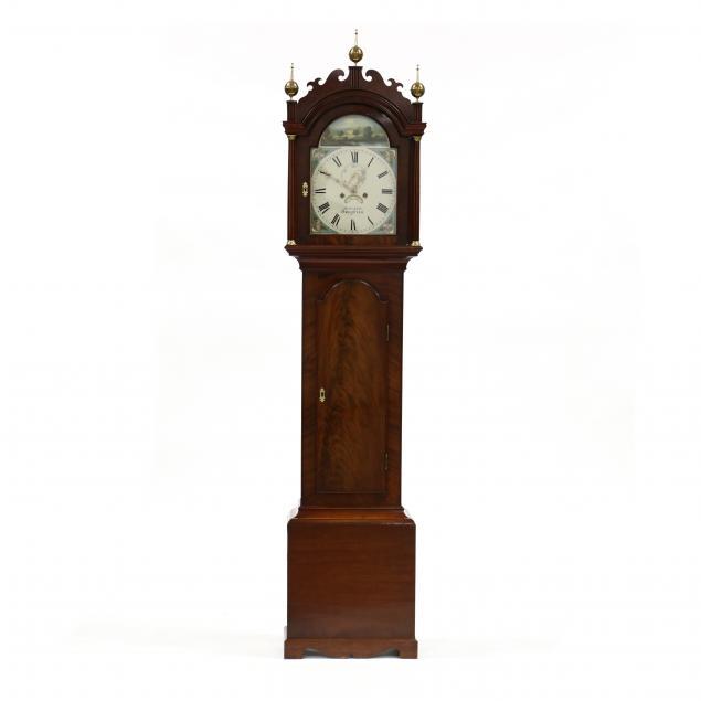 antique-english-mahogany-tall-case-clock-henry-baker