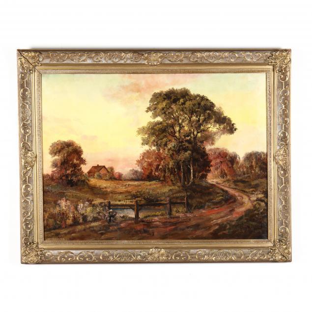 a-large-vintage-autumnal-landscape-painting-with-cottage
